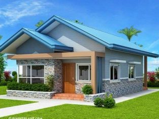 Architectural building design of a three bedrooms flat bungalow