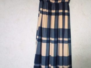 Ladys' Blue and Yellow Maxi Gown