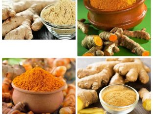 Tumeric powder and ginger powder